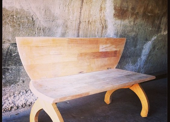 Photo by urbanhow2do • Instagram  Old Dining Table Made Kids Park Bench!