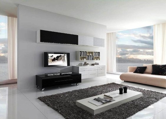 Modern Minimalist Living Room Interior Design, Decor Ideas