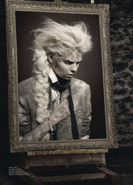 Gothic art fashion-Fashion Portrait of Dorian Gray