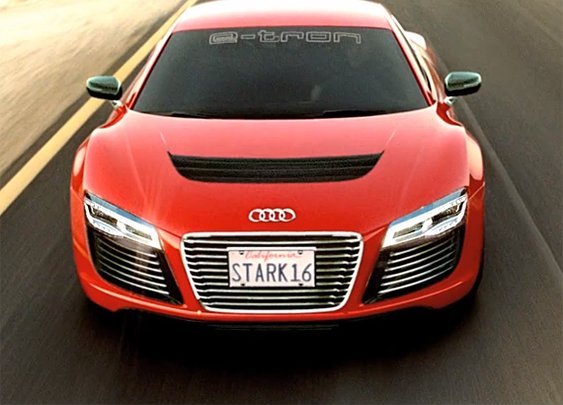 Audi R8 e-tron For Iron Man 3