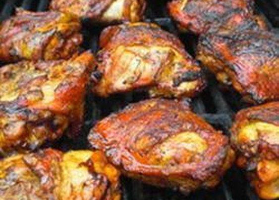 Mustard Chili Barbecued Chicken