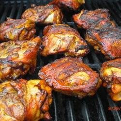 Mustard Chili Barbecued Chicken