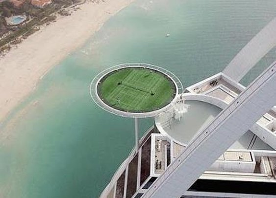Highest Tennis Court, Dubai- We Don't Envy The Ball Boys!