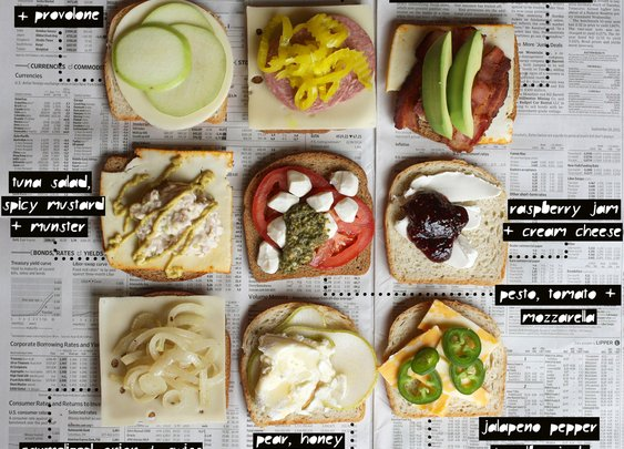 Grilled Cheese Cheat Sheet