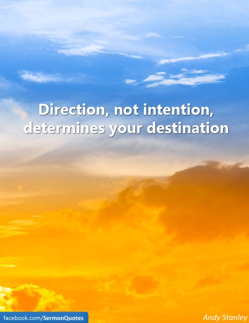 Need a change of direction