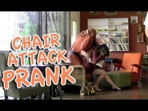 Human Chair Scare Prank – Hidden Man