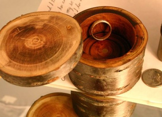 Natural wood keepsake box in Japanese sakura wood by Hope & Grace Pens