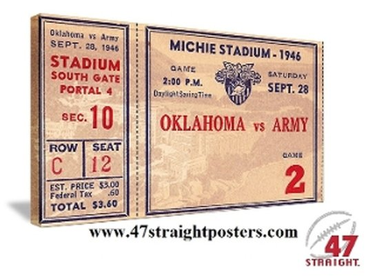 OU Sooners Gifts. Army Black Knights gifts. Game Room Art. 47 STRAIGHT.™