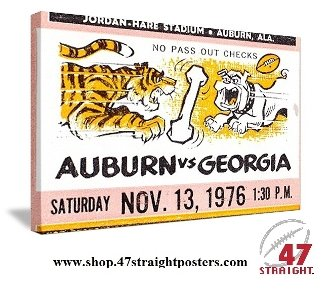 Georgia Bulldogs Gifts. Auburn Tigers gifts. Father's Day sports gifts. 47 STRAIGHT.™