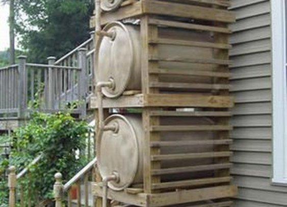 Stacked Rain Barrels