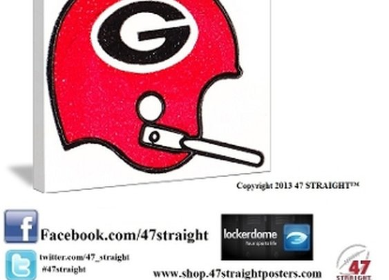 Georgia Bulldogs gifts. Georgia Bulldogs art.
