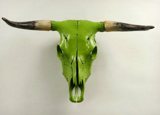 Painted Animal Skull Wall Mounts