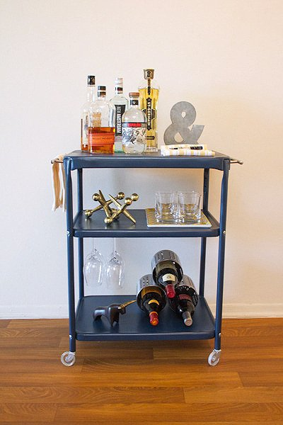 Repurpose an Old Office Cart into a DIY Rolling Bar Cart | Man Made DIY |