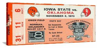 OU Sooners Football Tickets. 1973 Iowa State Cyclones vs. Oklahoma Sooners