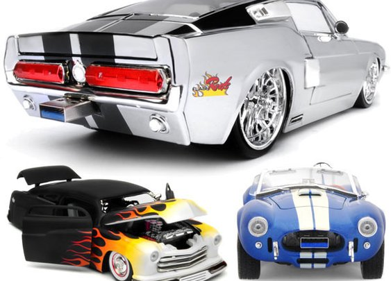 Flash Rods Car Toys Flash Drives