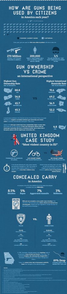 Interesting Infographic on How Guns are Being Used by American Citizens Each Year