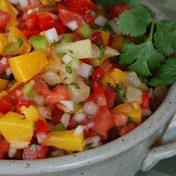 Chicken Quesadillas with Mango Salsa