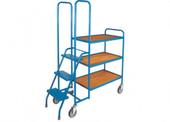 Order Picking Trolley with Steps to ensure workers' safety