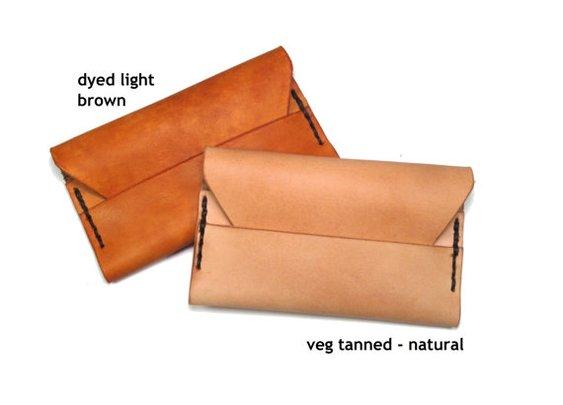 minimalist wallet - natural or light brown - by MotorStreet
