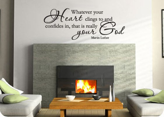Your Real God (Martin Luther)  - Wall Art // MissionalWear.com