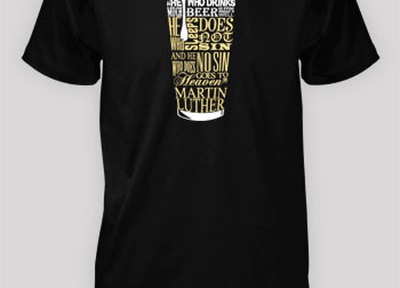 Martin Luther - Beer Quote // MissionalWear.com