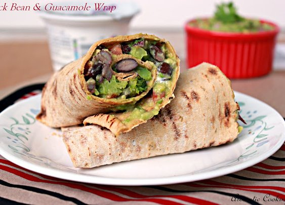 Blackbean And Guacamole Wrap