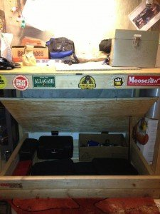 Workbench with Secret Storage Compartment