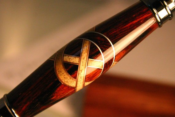Celtic knot handcrafted wood pen with copper by HopeAndGracePens
