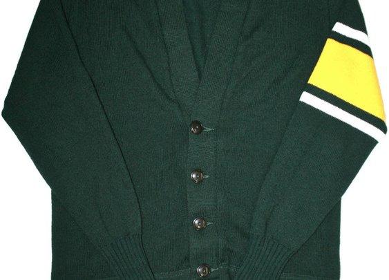 Petaluma Supply Co. - Vintage 60s Preppy School Cardigan Sweater Mens Size 38 (Small)