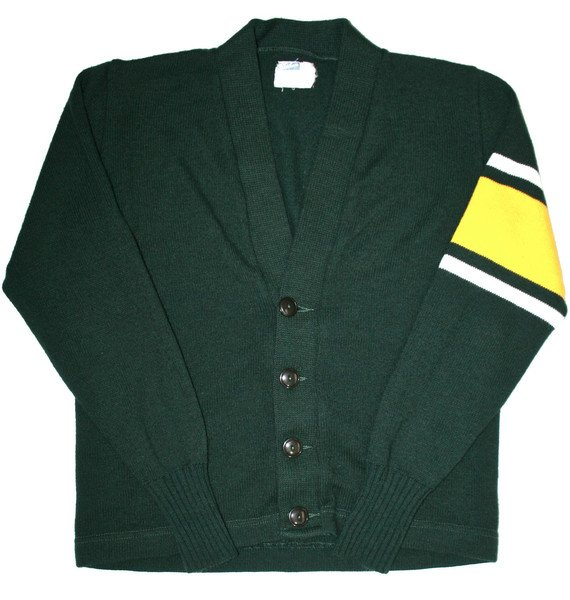 Petaluma Supply Co. - Vintage 60s Preppy School Cardigan Sweater Mens Size 38 (Small)