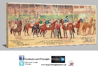 Horse Racing art, Horse racing gifts, Father's Day gifts for horse racing fans