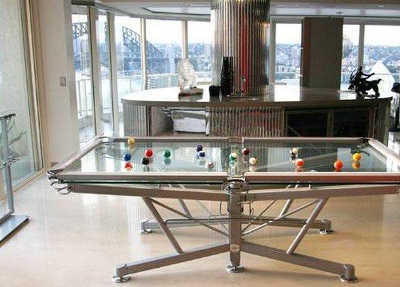 Men's Gear: GLASS POOL TABLE