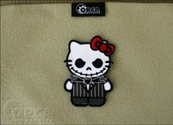 ORCA Tactical. Morale Patch - Kitty Jack Skellington Patch