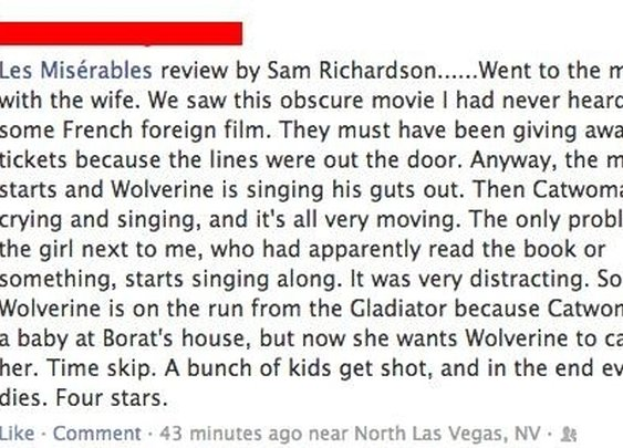 A Man's Review of Les Miserables
