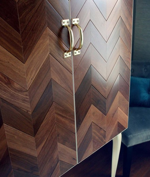 How to: Make a DIY Wooden Cabinet from Upcycled Flooring Scraps | Man Made DIY | Crafts for Men | Keywords: diy, woodworking, wood, furniture