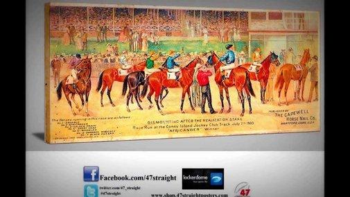 Vintage Sports Art. Game Room Art. 47 STRAIGHT.™ - YouTube