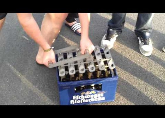 Opening an Entire Case of Beer at the Same Time