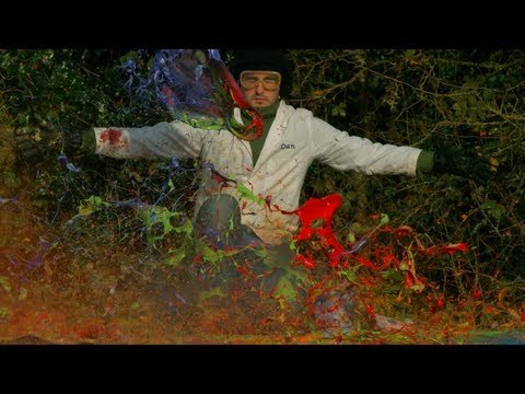 Giant Paint Explosions in Super Slow Motion
