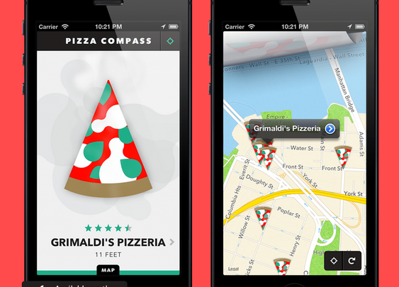 Pizza Compass, An iOS App That Points Users to the Nearest Pizzeria