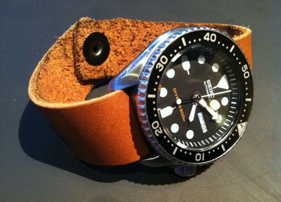 The Inexpensive Leather Watch Band ($7)