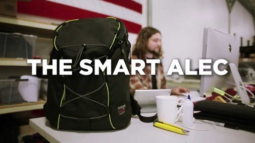 Our latest video (Smart Alec backpack)
