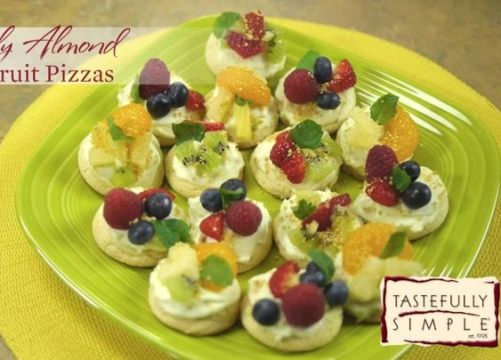 Absolutely Almond Mini Fruit Pizzas - YouTube