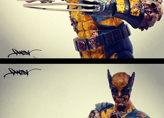 Zombie Marvel Sculptures