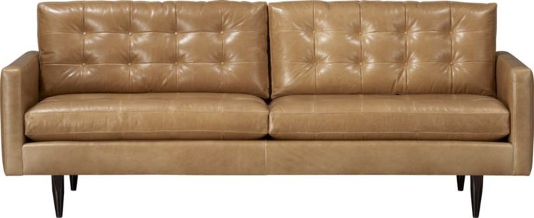 Sensational Petrie Leather 86 Sofa In Sofas Crate And Barrel Gentlemint Gmtry Best Dining Table And Chair Ideas Images Gmtryco