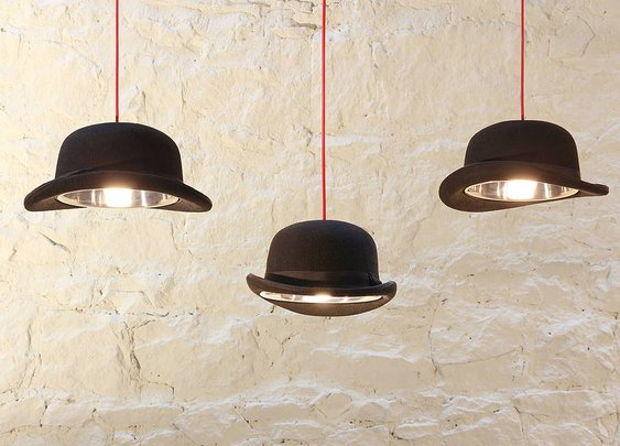 bowler hat light by mr j designs | notonthehighstreet.com