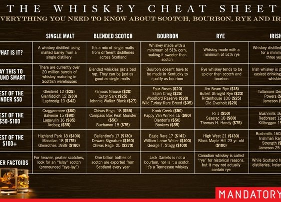 Quick and Easy Guide to Single Malt, Bourbon, Rye and Irish Whiskey