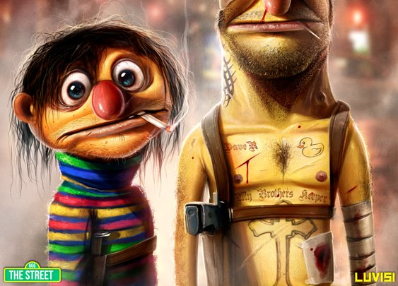 Bert and Ernie - My Brother's Keeper - by `DanLuVisiArt on deviantART