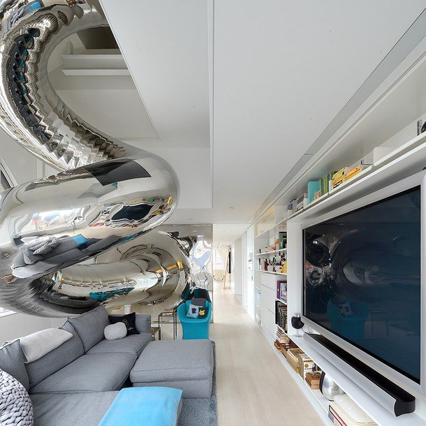 Artistic penthouse with fun interior