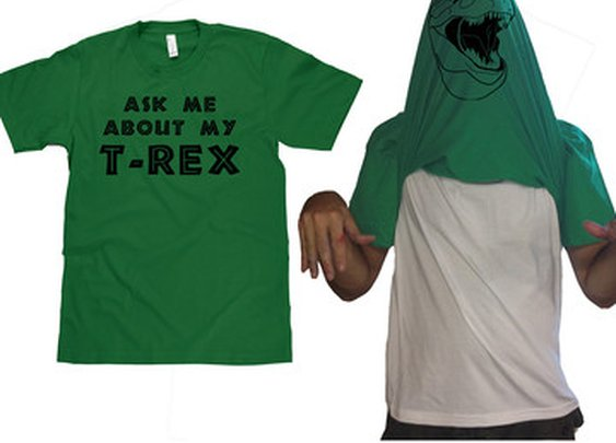 Fab.com | T-Rex Face Flip Up Tee Men's