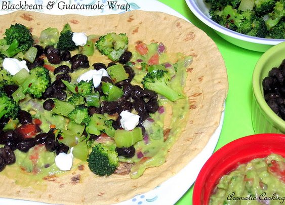 Aromatic Cooking: Blackbean And Guacamole Wrap